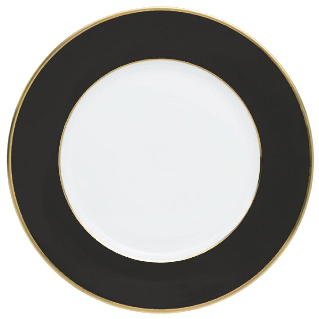 """Schubert"" Charger in Dark Gray & Narrow Gold Rim For Sale - Image 11 of 13"