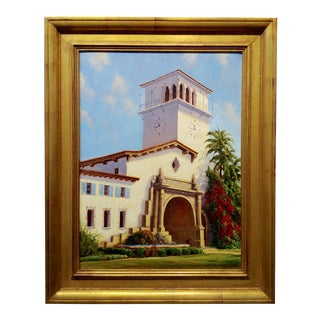 Ralph Waterhouse Santa Barbara Courthouse Oil Painting For Sale