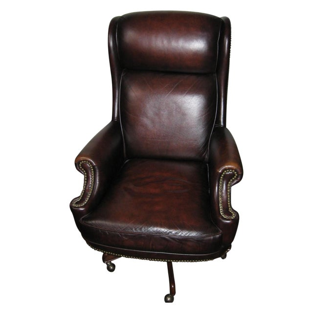 Hooker Leather Office Chair - Image 1 of 10