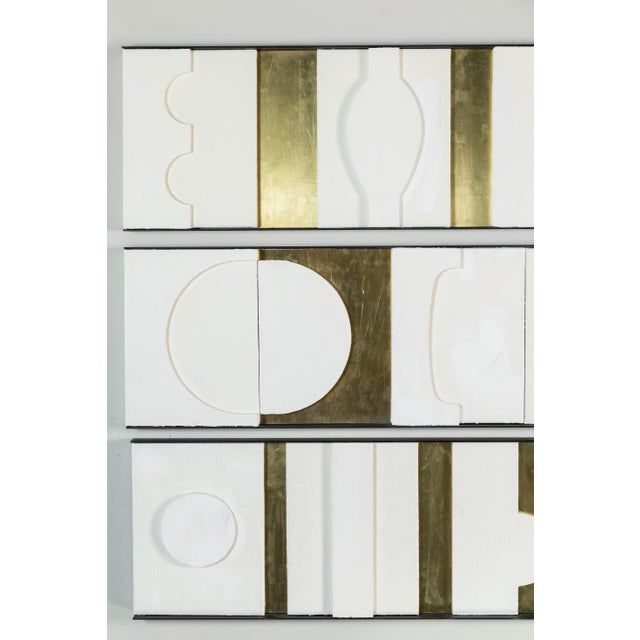 Art Wall Sculpture Modernist Frieze Panels Triptych by Paul Marra For Sale In Los Angeles - Image 6 of 8