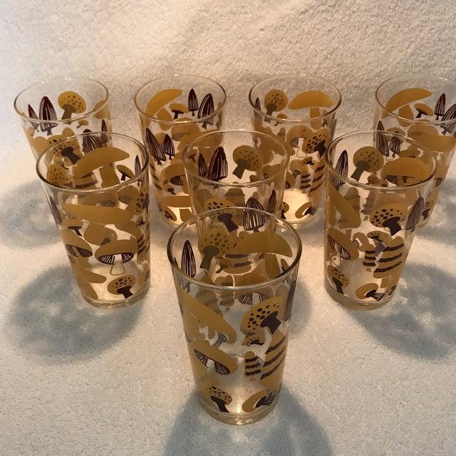 Mid-Century Modern Mushroom Glasses - Set of 8 - Image 3 of 10