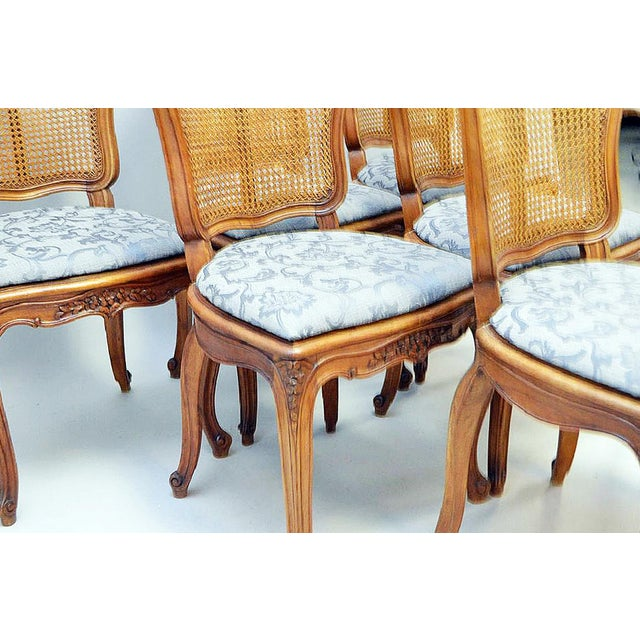 French Country Caned Dining Chairs, Set of 6 - Image 5 of 5