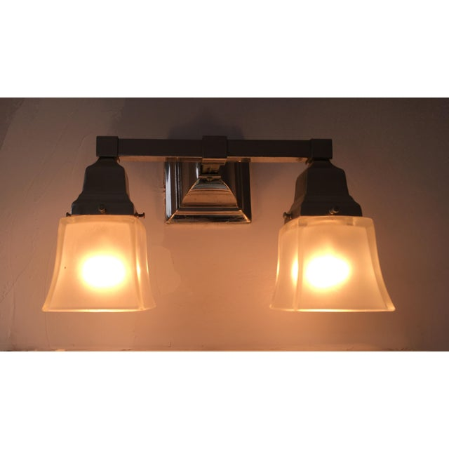 Urban Archeology Town Double Shade Sconce For Sale - Image 4 of 6