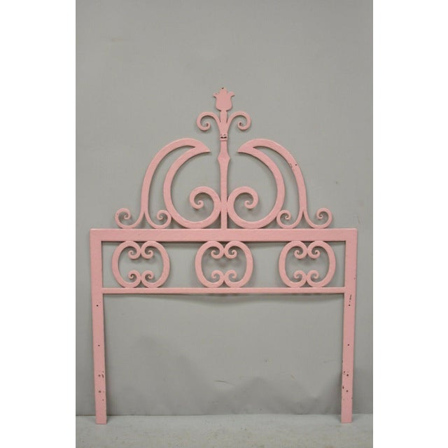 Pair Vintage Italian Gothic Iron Hollywood Regency Twin Size Bed Headboards. ***Can be used with a king size mattress when...