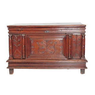 17th Century French Louis XIII Lift Top Chest For Sale