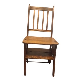 Early 20th Century Convertible Ladder Chair For Sale