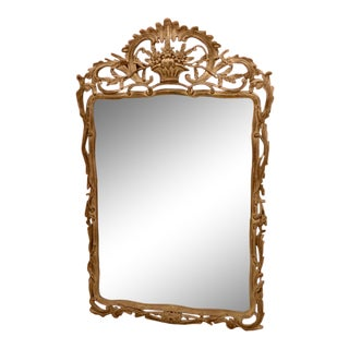 Giovanni Chelini Baroque Hand Carved Mirror For Sale
