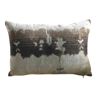 Water Color Ikat Bolster Pillow For Sale