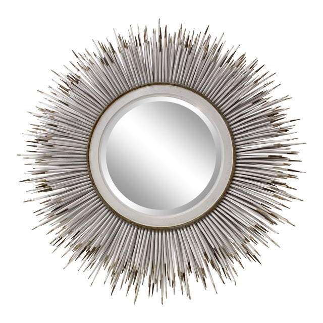 Hollywood Regency Faux Porcupine Mirror For Sale