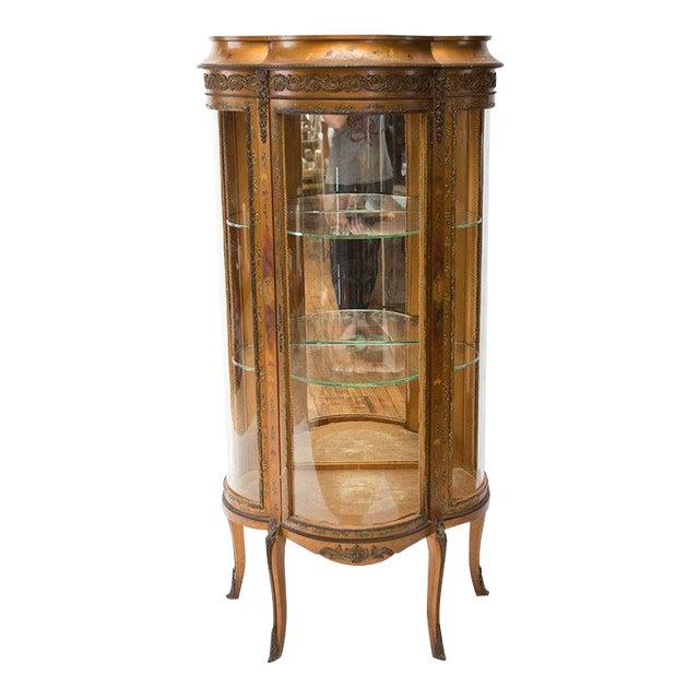 Gilded Vitrine Curio Cabinet For Sale