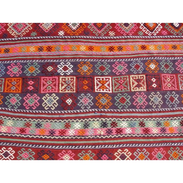 Vintage Turkish Kilim Rug - 4′12″ × 7′9″ For Sale In Houston - Image 6 of 11