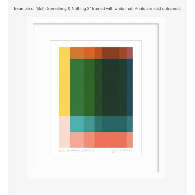 """Ellsworth Kelly Jessica Poundstone """"Both Something & Nothing 3"""" Abstract Art Print For Sale - Image 4 of 5"""