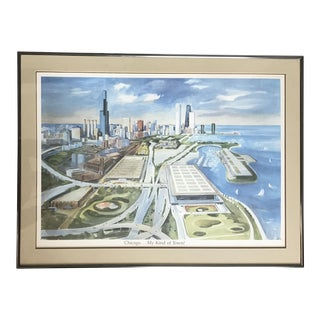 Kay Smith Original Watercolor Landscape - Signed and Framed For Sale