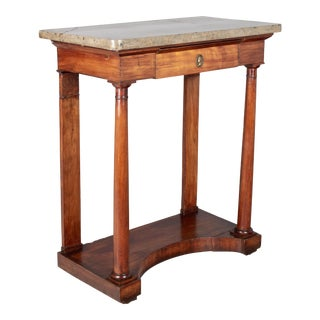 19th Century French Empire Marble Top Console For Sale