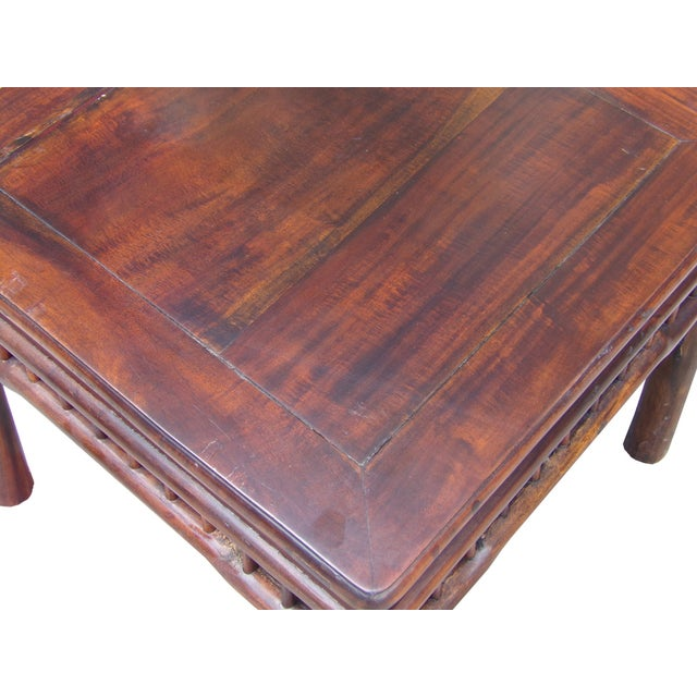 Chinese Handmade Square Side Table - Image 4 of 5