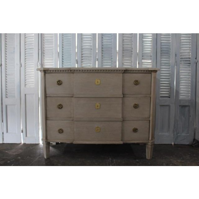 Mid-Century Modern 20th Century Swedish Gray Commode For Sale - Image 3 of 8