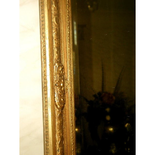 French 19th C. Carved Gilt Frame & Beveled Mirror - Image 6 of 10
