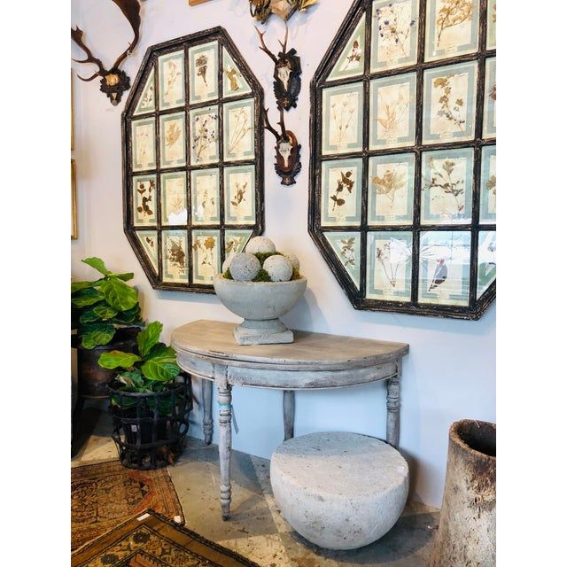 Late 19th Century Antique French Demi-Lune Console For Sale - Image 12 of 13