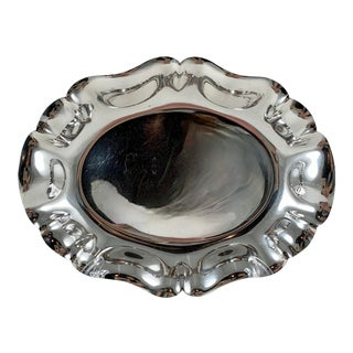S. Kirk & Son Sterling Silver Ruffled Rim Relish or Celery Tray, 1940s For Sale