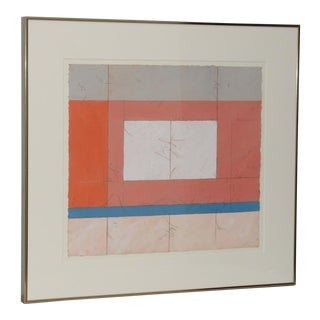 Mid Century Mixed Media Modernist Landscape by Laurent Sarlatte C.1979
