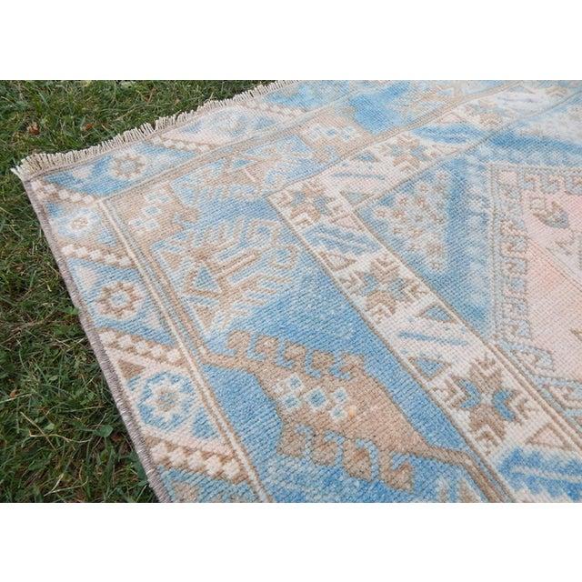 Textile Vintage Distressed Turkish Oushak Rug 6′3″ × 8′8″ For Sale - Image 7 of 13