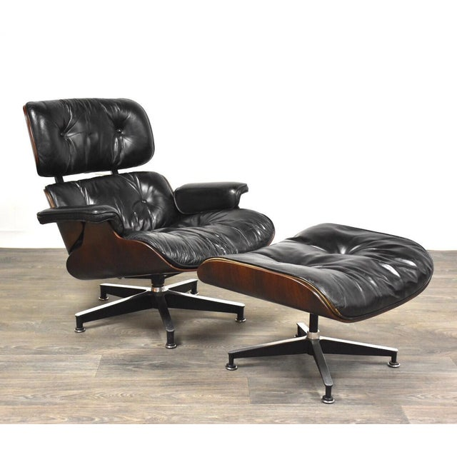 Original Herman Miller Eames Lounge Chair & Ottoman For Sale - Image 12 of 12