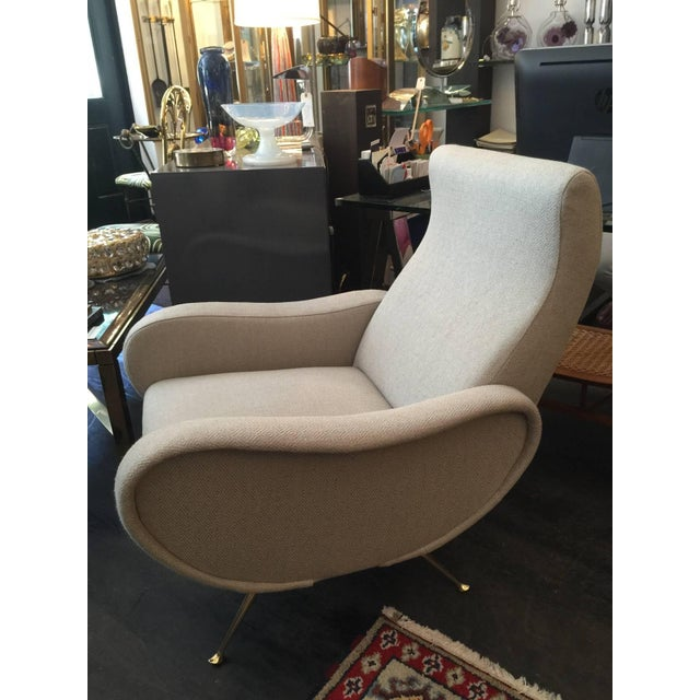 Mid-Century Modern Sculptural Zanuso Style Single Armchair For Sale - Image 3 of 5