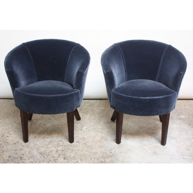 Pair of English George Smith 'Petworth' Tub Chairs in Mohair - Image 3 of 11