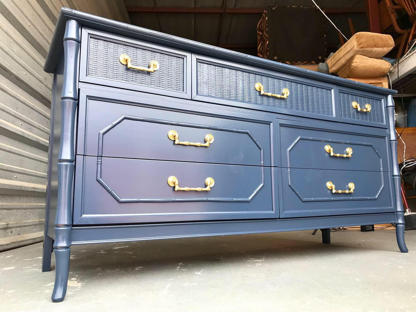 Faux Bamboo Broyhill Newly Lacquered Dresser Chairish