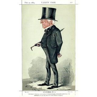 1869 Robert Lowe Vanity Fair Portrait Lithograph Print For Sale