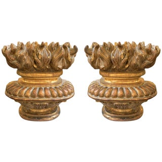 Louis XV Gilt Wood Architectural Ornaments - a Pair For Sale