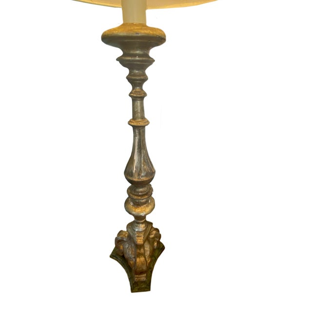 19th Century Italian Alter Stick Lamps - a Pair For Sale - Image 4 of 5
