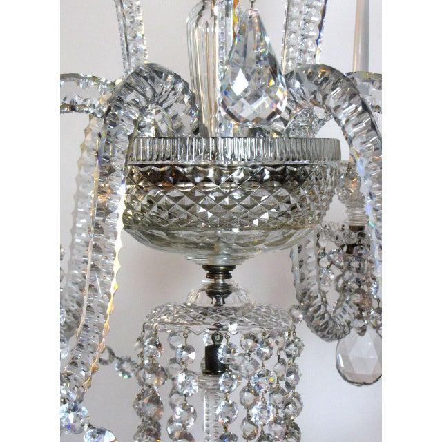 Crystal Six Light Large Crystal Chandelier For Sale - Image 7 of 8