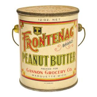 Vintage Frontenac Peanut Butter Tin Pail For Sale