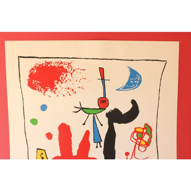 """Modern """"Acrobats in the Night Garden"""" Print by Joan Miro For Sale - Image 3 of 8"""