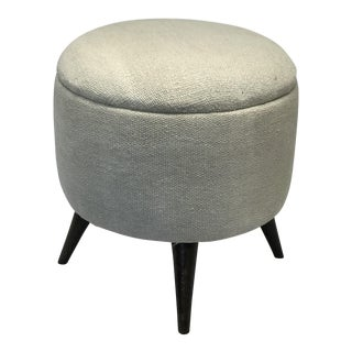 Modern Handcrafted Turkish Eggshell Ottoman For Sale