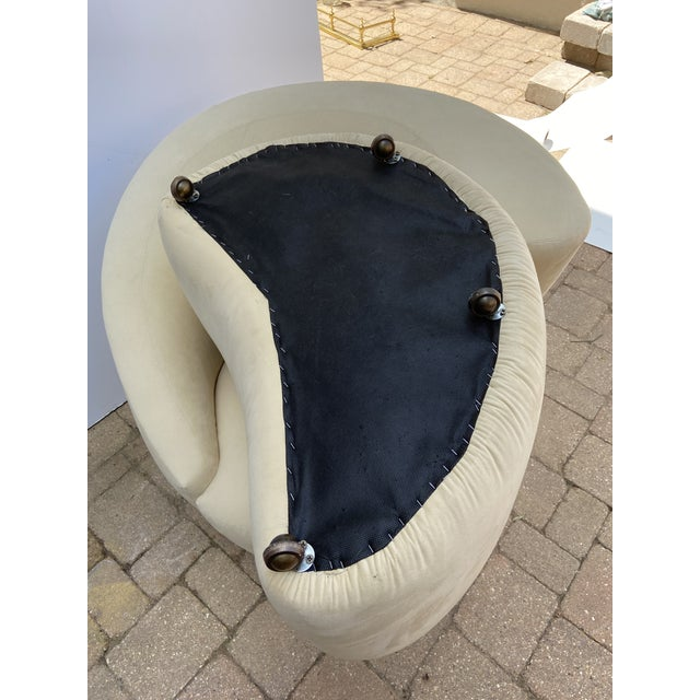 Mid-Century Vladimir Kagan for Weiman Nautilus Chair and Ottoman For Sale In Chicago - Image 6 of 10