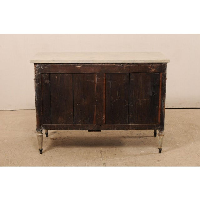 Neoclassical Mid 19th Century French Carved Wood Commode With Limestone Top For Sale - Image 3 of 12