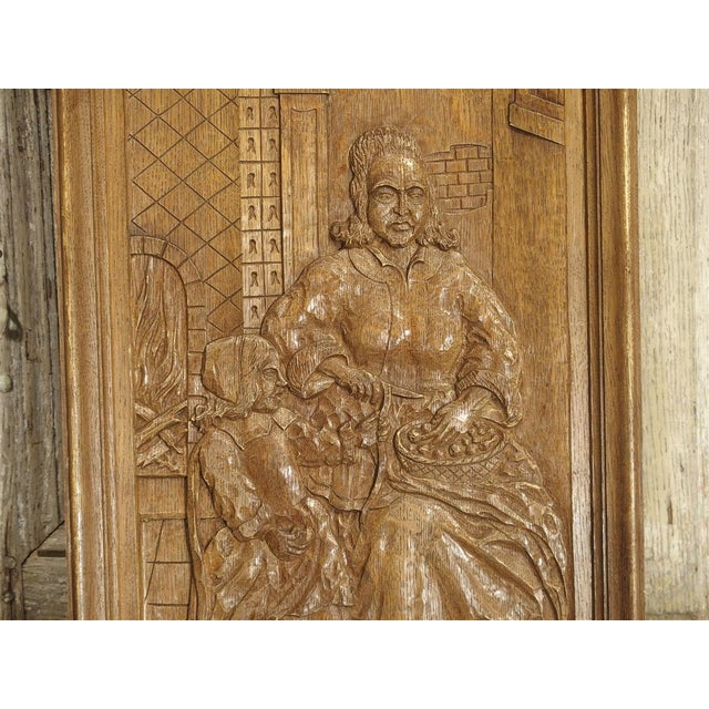 Set of Three Bas Relief Carved Belgian Panels, Circa 1930 For Sale - Image 11 of 13