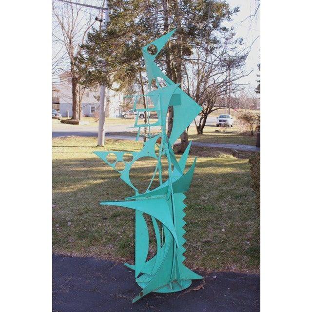Waylande Gregory Iron Bird Sculpture For Sale - Image 10 of 10
