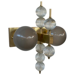 Two Globe Sconce by Fabio Ltd For Sale