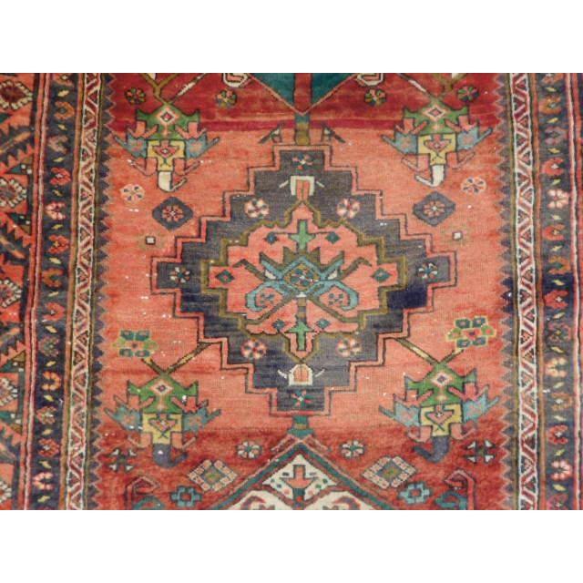 Antique Persian Karaja Runner - 3′7″ × 14′ - Image 9 of 10