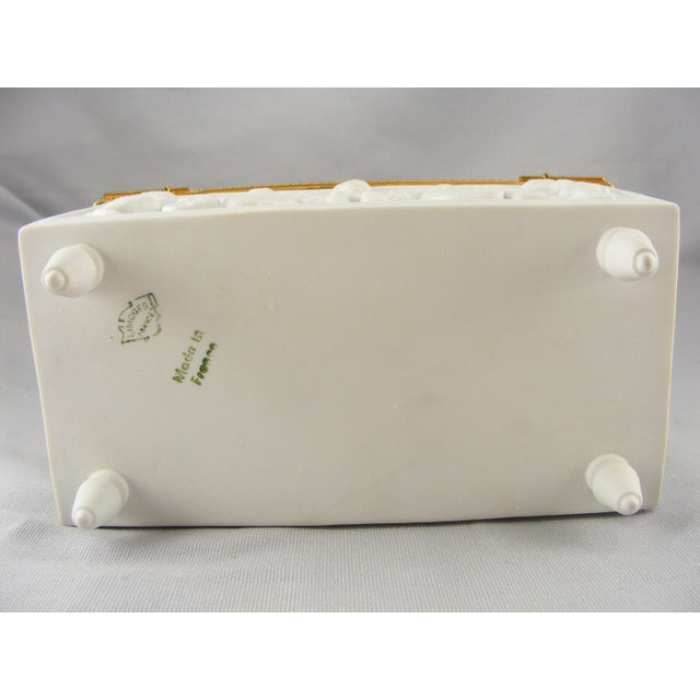 Limoges France White Bisque Dresser Box - Image 10 of 10