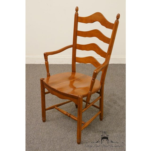 Late 20th Century Vintage Tom Seely Cherry Ladder Back Dining Chair For Sale - Image 4 of 10