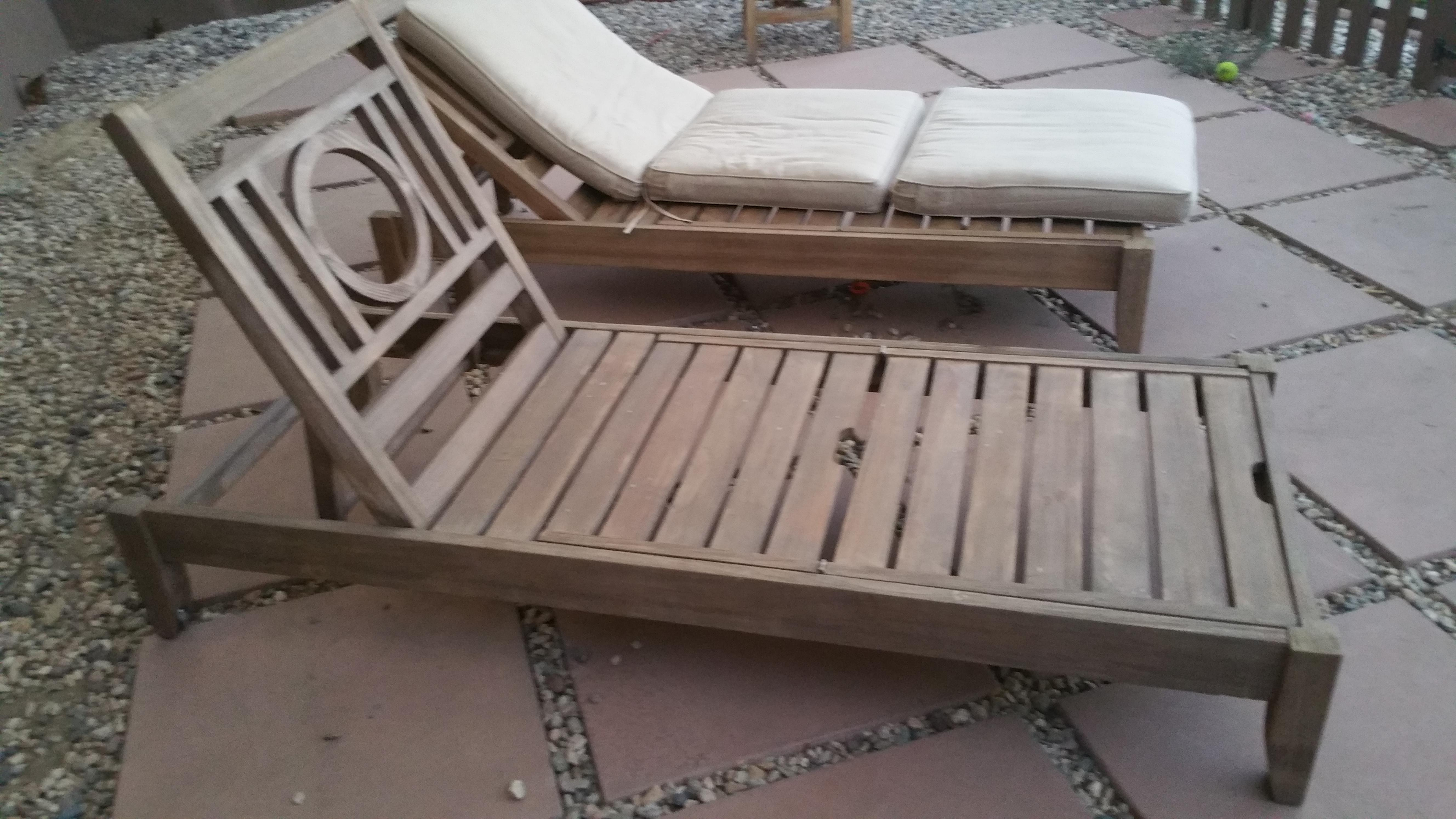 Restoration Hardware Teak Leagrave Collection Chaise Lounges   Pair   Image  3 Of 6