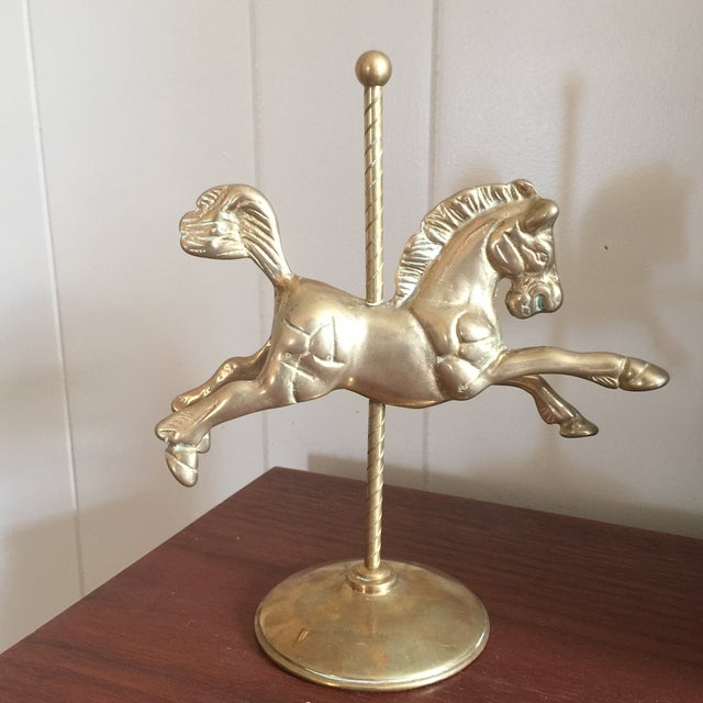 Vintage Brass Carousel Horse For Sale In Savannah - Image 6 of 8