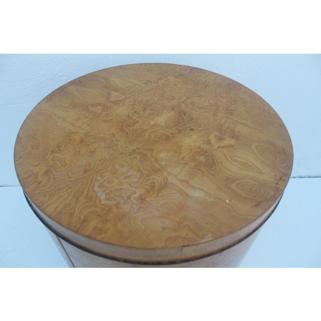 1970s Milo Baughman Burl Wood Side Table - Image 7 of 8