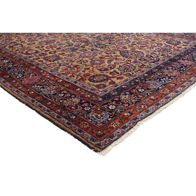 Islamic Persian Mashhad Rug With Traditional Style - 6′9″ × 10′4″ For Sale - Image 3 of 5