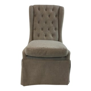 Aiden Gray Issac Tufted Back Parsons Chair For Sale
