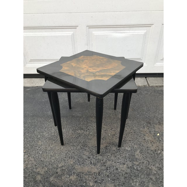 Mid-Century Modern Black Stacking Tables - A Pair - Image 7 of 7